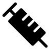 Piktogramm einer Spritze.