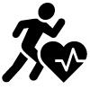 Piktogramm eines laufenden Männchens.