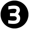 """Icon mit der Zahl """"3""""."""