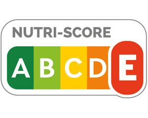 "Nutriscore, das rote ""E"" ist hervorgehoben."