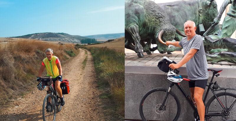 Franziska und Rudolf Haslinger unterwegs auf dem Fahrrad.